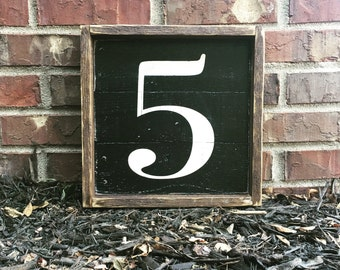 Family Number Sign | Pallet Wood | Wood Sign | Framed Wood Sign | Gallery Wall | Chalkboard Sign | Farmhouse Decor