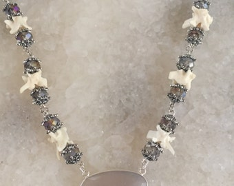 Serpentine Moonstone Necklace