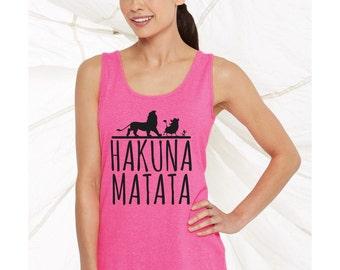 Disney Lion King inspired Hakuna Matata No Worries women's tank top 42wt