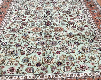 "9'6"" x 13'3"" Persian Tabriz Oriental Rug - 1980s - Fine - Hand Made - 100% Wool"