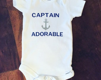 Captain Adorable Gerber Onesie. Baby Boy Onesie.