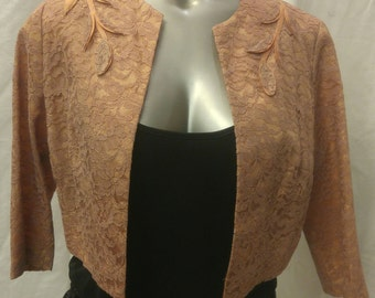 1950's Lace overlay cropped jacket