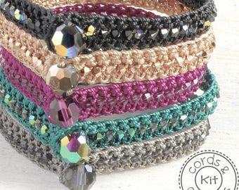 Mix and Match Three Bracelet Crochet Kit