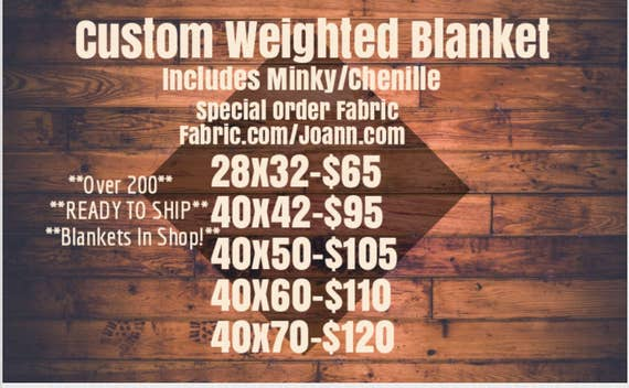Custom Weighted Blanket, Minky Weighted Blanket, SELECT FABRIC from website, Up to Twin Size 5 to 20 Pounds. SPD, Autism, Weighted Blanket