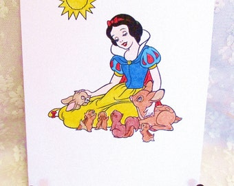 Snow White Blank Card: Add a Greeting or Leave Blank