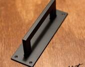 """1"""" x 1/2"""" Rectangle Steel Sliding Barn Door Handle - Loft Door, Industrial Door 10"""" - 26"""""""