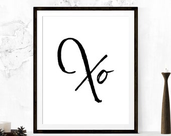 X O, xo Art, Black XO Art, XO Black, Printable Art, Wall Prints, X O Wall Art, XO Prints, Wall Print, Downloadable Art Prints, Digital Art