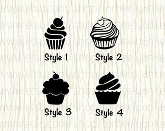 Cupcake Car Decal, Cupcake Decal, Food Car Decal, Food Decal, Dessert Car Decal, Dessert Decal, Cherry Cupcake Decal, Baking Car Decal