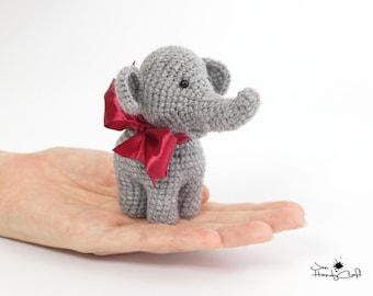 Plush elephant Miniature elephant Stuffed elephant lover gift Collectible elephant figurine Stuffed animals Plushie elephant toy Zoo animal