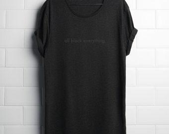 All Black Everything T-shirt Black Tee Shirt Tshirt Top 100% Cotton KYOUSTUFF