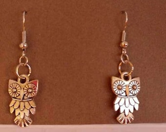 Large owl with  Gold, Silver, Bronze and Rose Gold