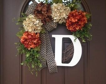 Rustic Grapevine Initial Wreath - Front Door Wreath with Monogram - Grapevine Initial Wreath for Front Door- Housewarming Gift - Initial