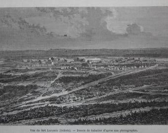 old etch fort laramie, 1868