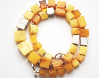 NOT MODIFIED! Baltic Amber Necklace,25.5g