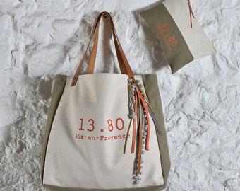 Tote M ivory orange Collection CABA
