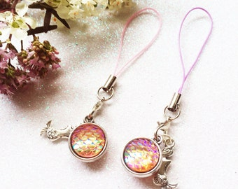 Mermaid Scales Phone Charm with Strap