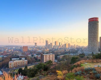 South Africa Photography, Cityscape of Johannesburg on Sunset, South Africa Print, Fine Art Photography, Print Photography, Wall Art Print