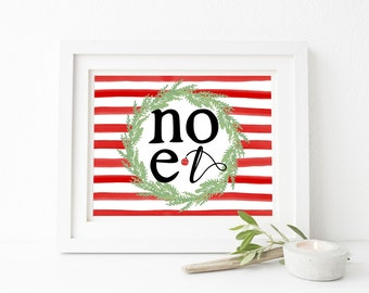 Noel Christmas Printable Wall Art 8x10, 5x7, 11x14, Holiday Printable, Christmas Landscape Printable, Christmas Decor, Christmas Sign