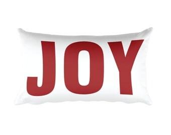 Joy Pillow – Christmas Pillow, Holiday Pillow, Christmas Throw Pillow