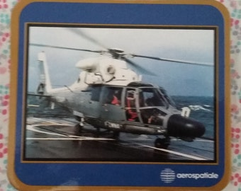 5 below of glass/Coasters vintage aerospace series helicopters