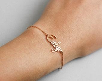 Name Bracelet, Kids Name Bracelet, Baby Name Bracelet, Gift for Mom, Newborn Bracelet, Custom Name Bracelet, Silver Name Bracelet, SB0181