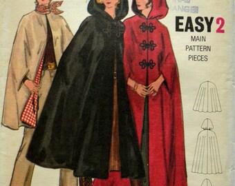 Uncut 1970s Butterick Vintage Sewing Pattern 5987, Size M; Misses' and Women's Cape