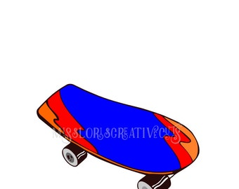 Skateboard SVG  cut file sports