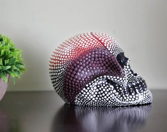 Ceramic Skull Decor, Sugar Skull Sculpture, Home Decor, Gothic Skull Decoration