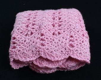 Crochet Baby Blanket, Baby Blanket Handmade, Prettiest Pink, Baby Girl Blanket, Crochet baby girl blanket, Baby Shower Gift