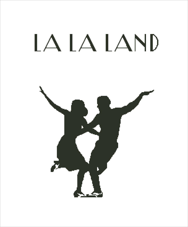 Buy 2 get 1 free modern cross stitch pattern la la land cross stitch minimal poster pdf ryan - La la land download ...