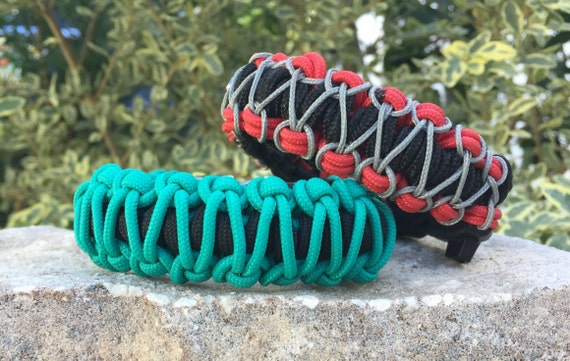 Stitched Beachy  Paracord Bracelet, summer splash of colors with a stitch