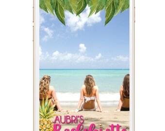 Bachelorette Snapchat Geofilter - Cheers Beaches, Pineapple, Beach, Weekend, Getaway
