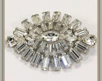 Vintage Weiss Brooch,Vintage Rhinestone Brooch,Vintage Weiss Rhinestone Brooch,Vintage Brooch,Vintage Rhinestone Jewelry,Vintage Jewelry