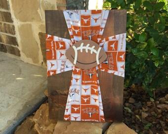 Texas Longhorns Cross, UT Longhorns Decor, UT Grad Gift, Longhorn Gift, UT Alumni, University of Texas Longhorns, hook em horns, ut gift