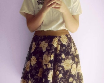 Floral 50's style flared skirt