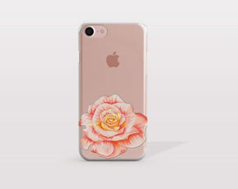 iPhone 7 Case Rose, iPhone 6 Plus Case, iPhone 7 Plus Case, iPhone 6 Case, i7 Cases, i6 Cases, iPhone SE Case, Tech Gift For Her - KT257