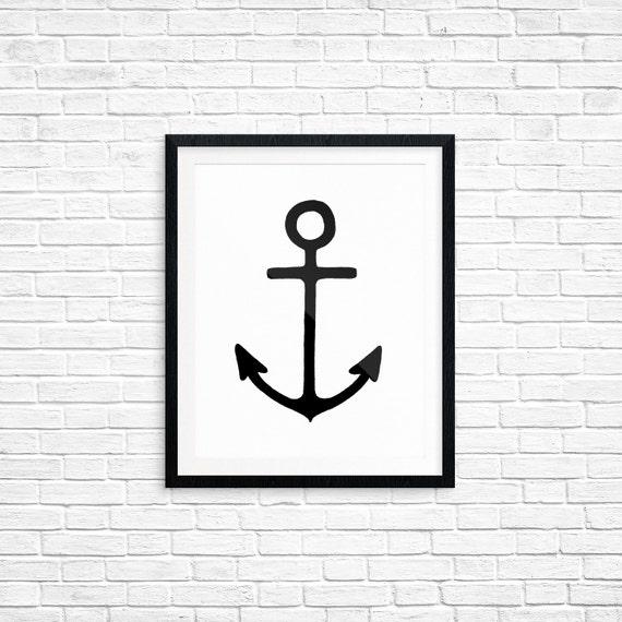 Printable Art, Anchor, Nautical Art, Spiritual Symbol Art, Home Decor, Art Printable, Digital Download Print