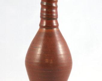 Ceramic Oil Bottle, Handmade Pottery Olive Oil Cruet, Red