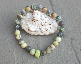 Turqoise Bracelet, Yellow Turqoise Bracelet, Magnesite Bracelet, Boho Bracelet, Gemstone Bracelet, Natural Stone Bracelet,