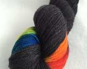 Rainbow burst of color on fingering weight yarn // After the Storm