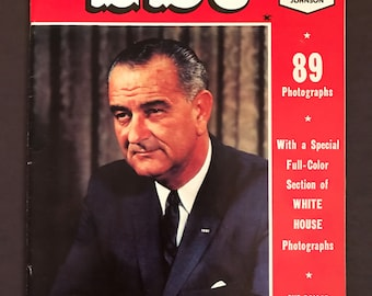 Meet LBJ- Lyndon Baines Johnson President Vintage Collector's Edition Magazine- 1964 MINT Condition