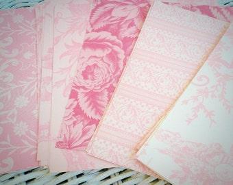 Anna Griffin Pink Paper Kits Five Designs Scrapbook Paper Craft Supplies Cardmaking Collage Floral Designs by VintageStudioSupply