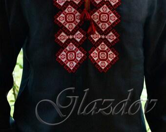 Vyshyvanka mens Ukrainian Embroidered shirt