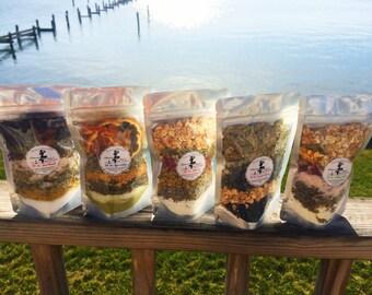 Herbal Bathtub Teas - Bath Soak - Tub Tea - Rejuvenating - Healing/Soothing - Congestion Relieving - Relaxing Sleep Promoting - Sore Muscle