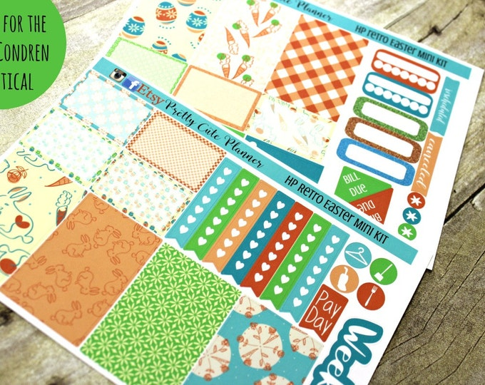 Planner Stickers - Weekly Planner stickers - Erin Condren Life Planner - Happy Planner - Day Designer- Retro Easter Stickers - Spring