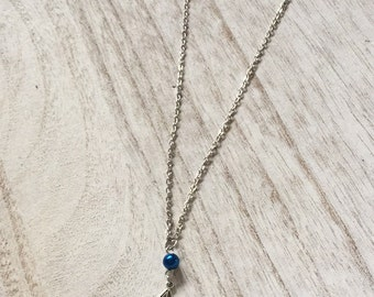 """Harry Potter Deathly Hallows Necklace // 20"""" Deathly Hallows necklace with house color bead choice"""