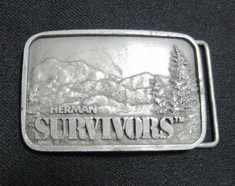 Belt Buckle, Herman SURVIVORS, Vintage