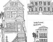CUSTOM LISTING House Portrait for Stephanie Stiles
