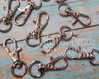 4pc. Swivel Lobster Hook Key Clasps 32mm