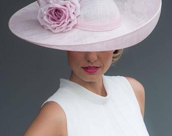 CAROLINA Upturn Brim Hat with Twists & Silk Flower